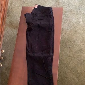 Black matchstick corduroy pants